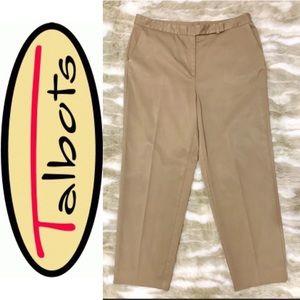 TALBOTS Tan Straight Leg Ankle Dress Pants